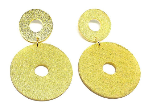 Pure Gold Ecoresin Earrings - Open Circle - Large