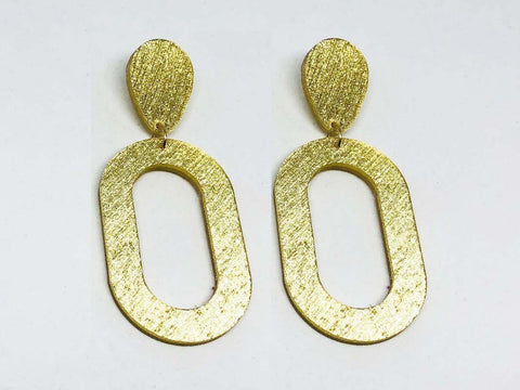 Pure Gold Ecoresin Earrings - Oval - Large