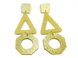 Pure Gold Ecoresin Earrings - Trio
