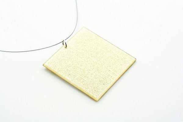 Pure Gold Necklace - Lrg Square