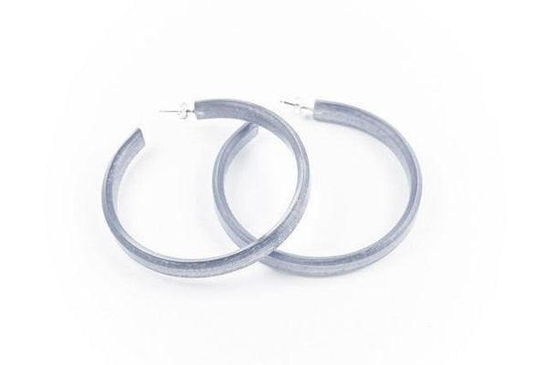 Pure Silver Hoop Earrings - Large