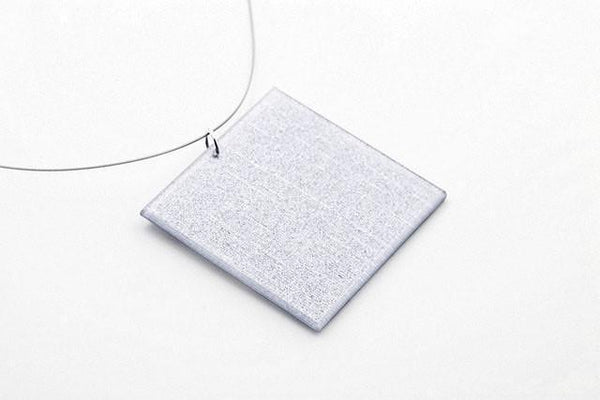 Pure Silver Necklace - Lrg Square