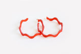 Punch Squiggle Hoop Earrings Large