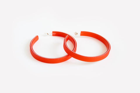 Punch Hoop Earrings Large