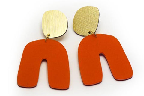 Punch Earrings - Fluid Curve