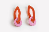Ecoresin Earrings - Double Link