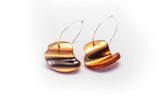 Reflect Copper Earrings - Flow Hoop