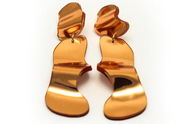 Reflect Copper Earrings - Flow Long