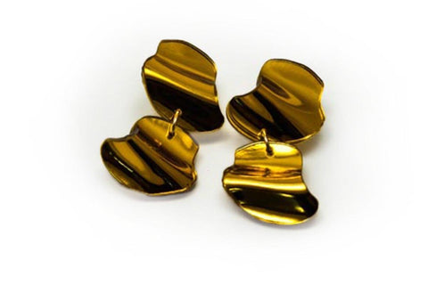 Reflect Gold Earrings - Flow Double