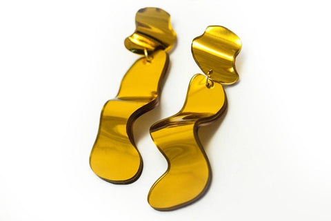 Reflect Gold Earrings - Flow Long