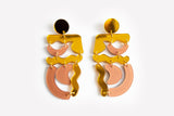 Reflect Gold Nude Squiggle Mania Earrings