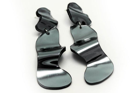 Reflect Silver Earrings - Flow Long