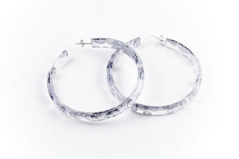 Regency Silver Hoop Earrings - Large
