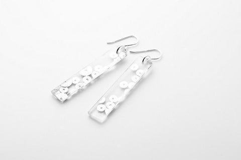 Regency Silver Earrings - Long
