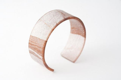 Swept Copper Cuff - Narrow