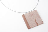 Swept Copper Necklace - Lrg Square