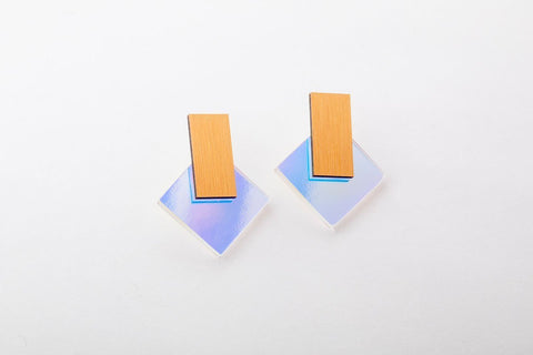 Solar Earrings - Diamond Stud