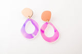 Ecoresin Earrings - Fluid Drop