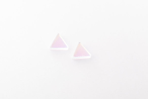 Solar Stud Earrings - Triangle