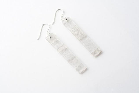 Swept Silver Earrings - Long