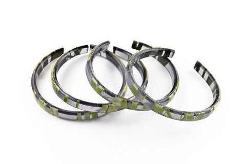 Seaweed Black Bangle