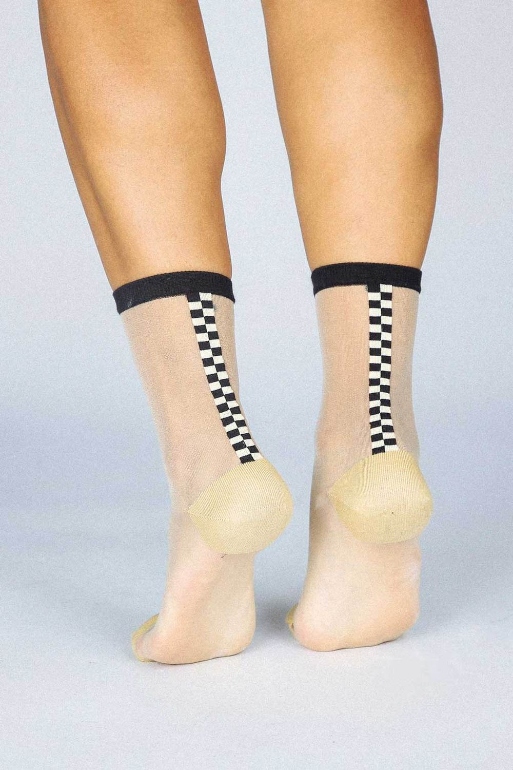 Tailored Union Chic Sheer socks- Nude