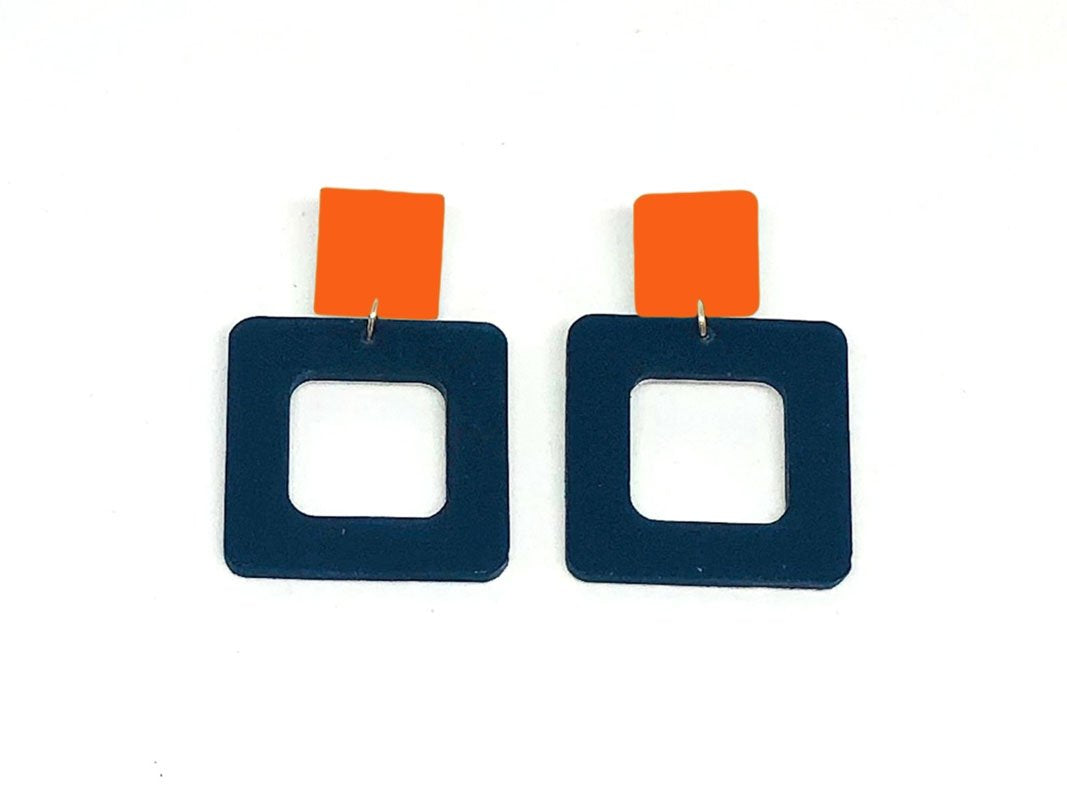 Ecoresin Earrings - Square - Small