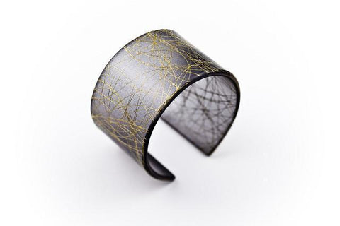 Wisp Gold Cuff - Wide