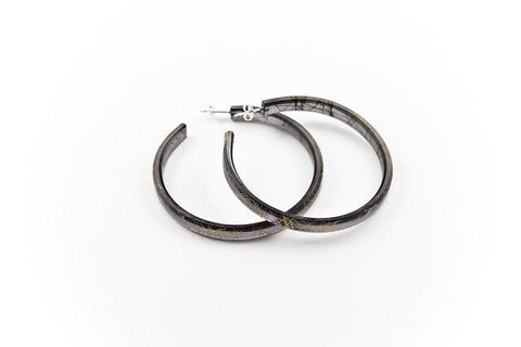 Wisp Gold Hoop Earrings - Large