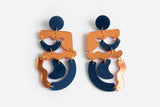 Wizard Reflect Copper Squiggle Mania Earrings