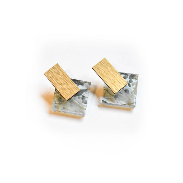 Whisper Robin Earrings - Diamond Stud