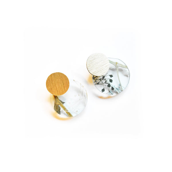 Whisper Robin Earrings - Disc Stud