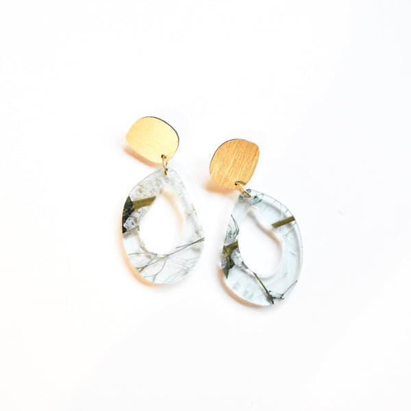 Whisper Robin Earrings - Fluid Drop