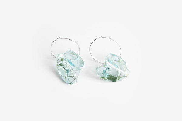 Whisper Robin Earrings - Flow Hoop