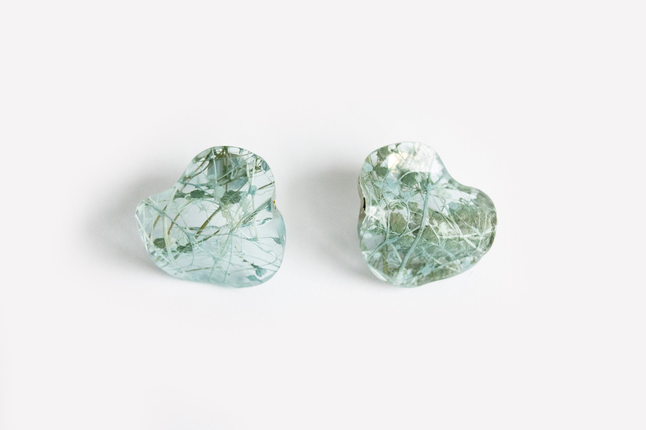 Ecoresin Earrings - Flow Small Stud