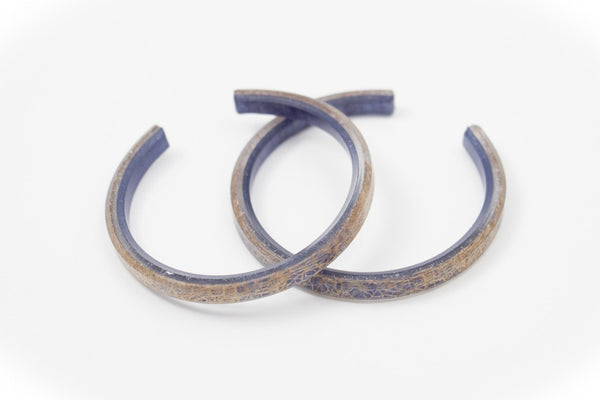 Wild Silk Indigo Bangle