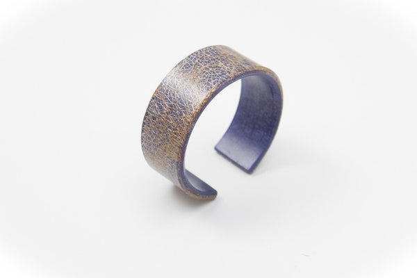 Wild Silk Indigo Cuff - Narrow