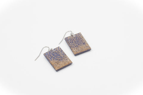 Wild Silk Indigo Earrings - Regular