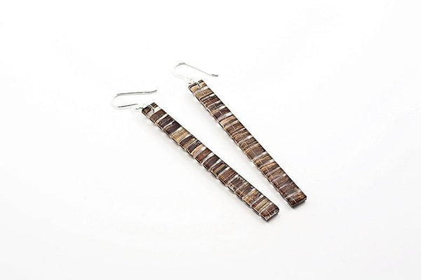 Banana Fibre Earrings - Skinny