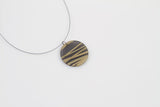 Bear Grass Black Necklace - Circle