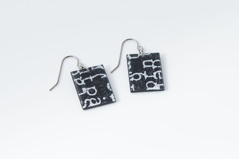 Courier Black Earrings - Regular