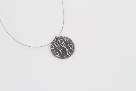 Courier Black Necklace - Circle