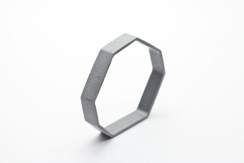 Cement Outline Bangle - Octagon
