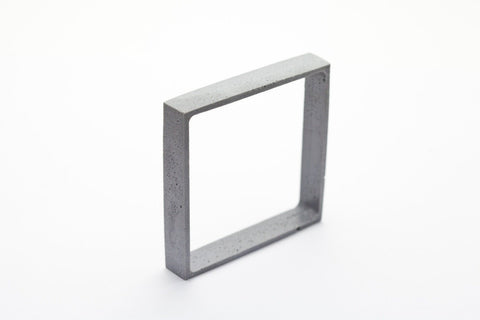 Cement Outline Bangle - Square