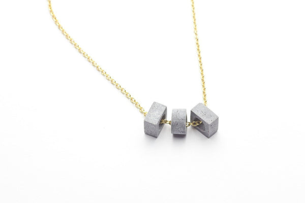 Cement Necklace - Trio