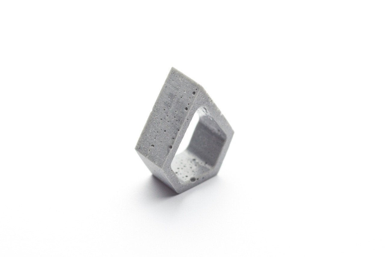 Cement Outline Ring - Pentagon