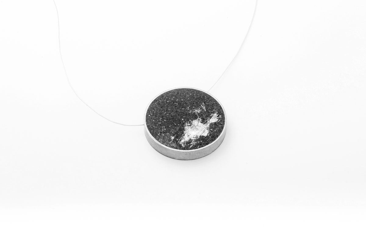 Concrete Framed Necklace - Circle - Large
