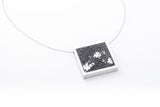 Concrete Aluminum Necklace - Square - Large - Silver