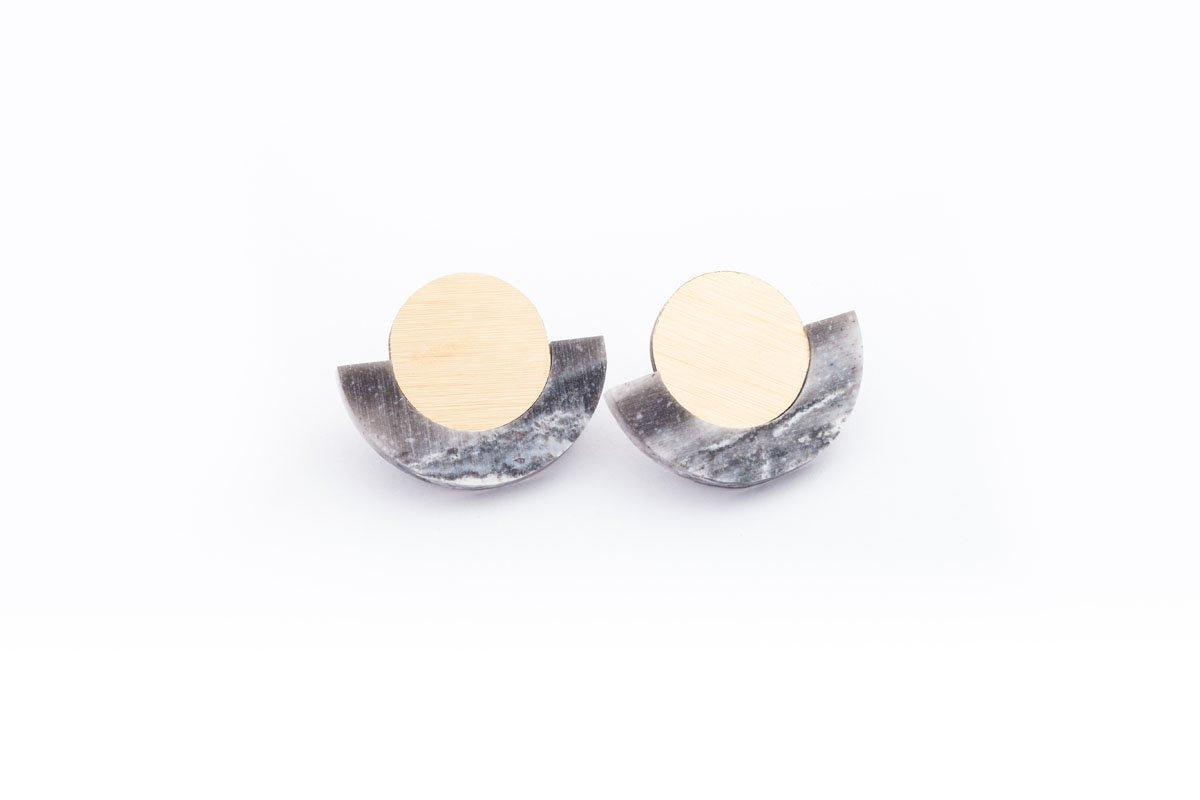 Corian Arc Circle Earrings
