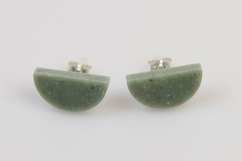 Corian Half Circle Earrings  - Jade